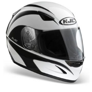 HJC CS-14 Wolfbane White Black Full Face Motorcycle Motorbike Helmet XS